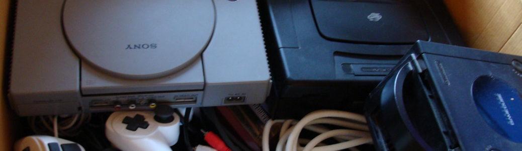 Carton de vieilles consoles