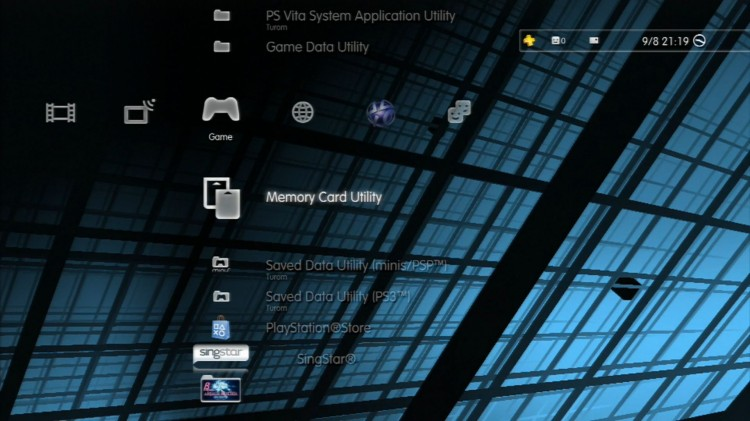 PS3 data memory card