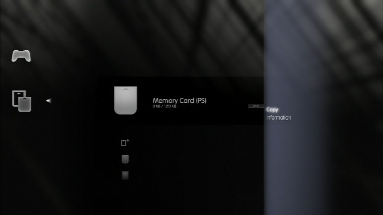 PS3 data memory card PS2