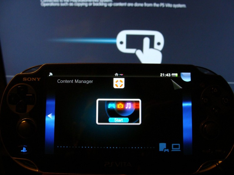 PS Vita data content manager