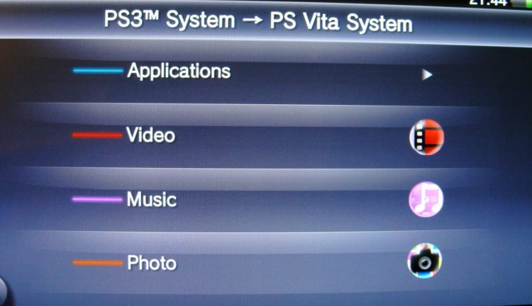 PS Vita data transfer type