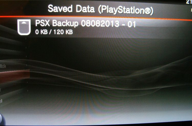 PS Vita data transfer PSX