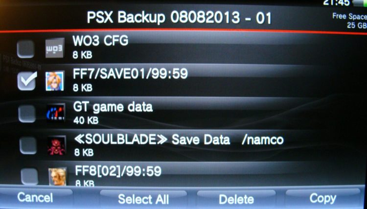 PS Vita data transfer PSX save