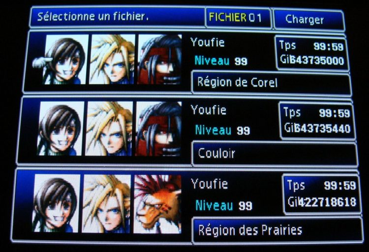 PS Vita FFVII save