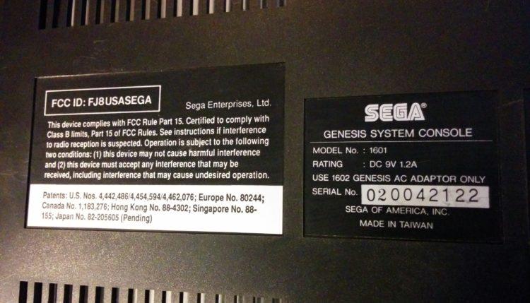 Genesis Model 1 back