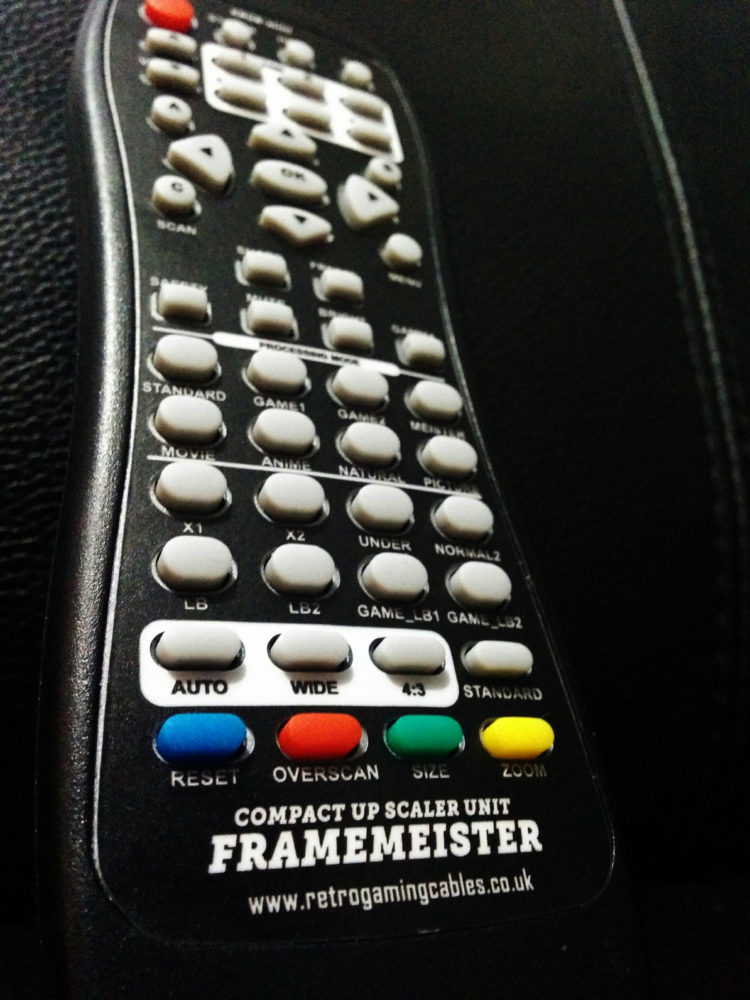 Framemeister XRGB Mini remote translation