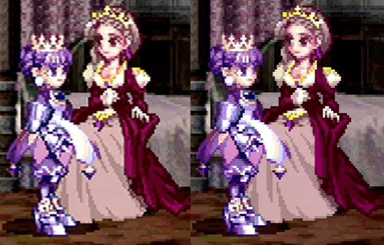 Princess Crown upscale comparison