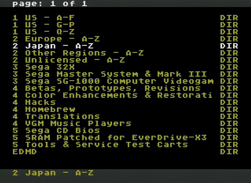 Mega CD 1 Jap + Megadrive 1 Pal + Everdrive... est ce que ca marche? Everdrive-Games-List