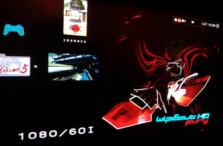 Wipeout PS3 dashboard CRT BVM
