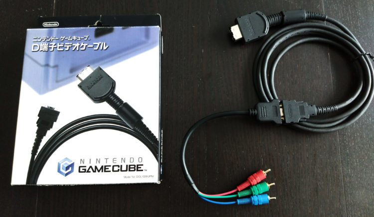 GameCube component cable D-Terminal adapter