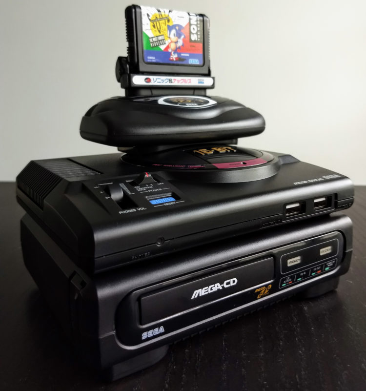 Megadrive Mini Tower of Power closeup