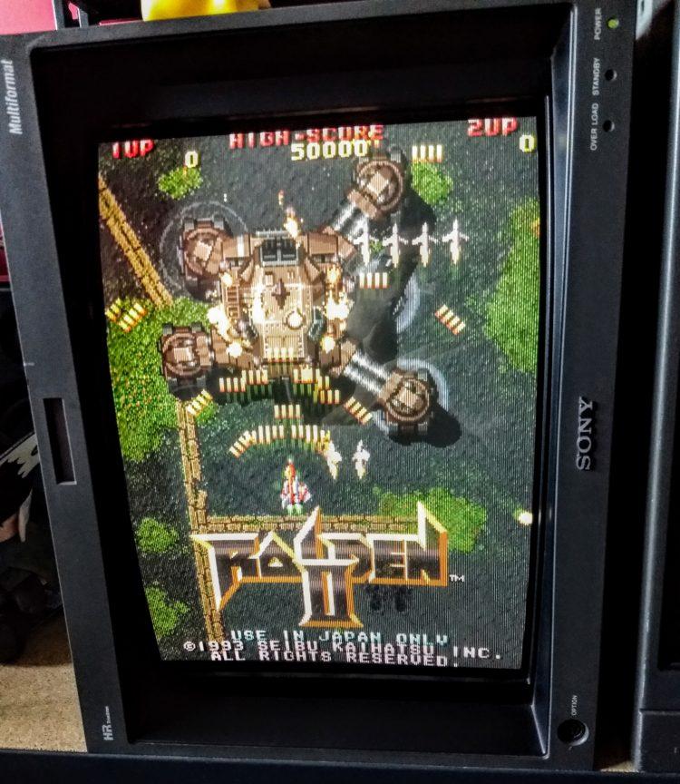 Raiden II PSX TATE CRT BVM