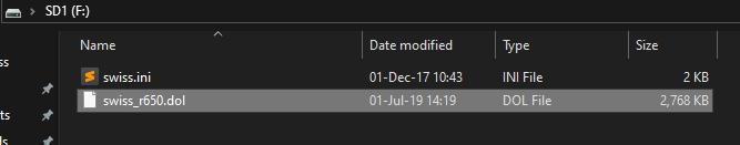Datel GameCube SD Media Launcher SD menu default
