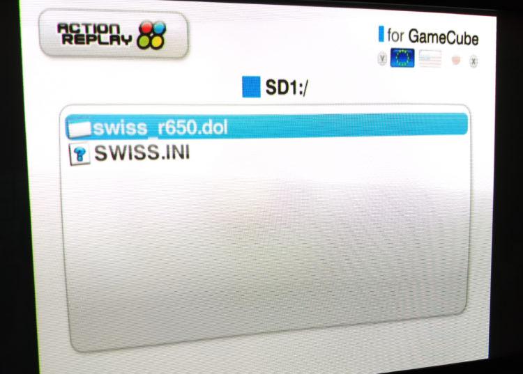 Datel GameCube SD Media Launcher UI