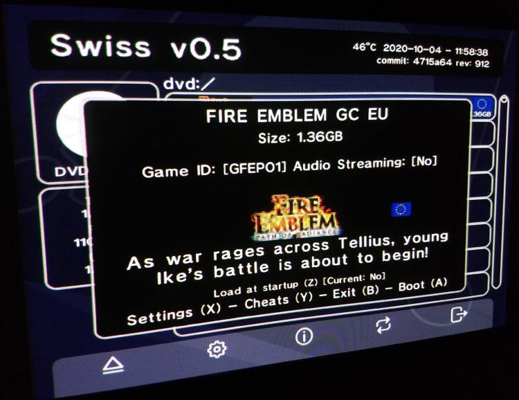 GameCube Swiss game details