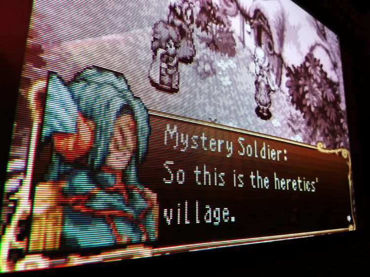 Sword of Mana CRT scanlines