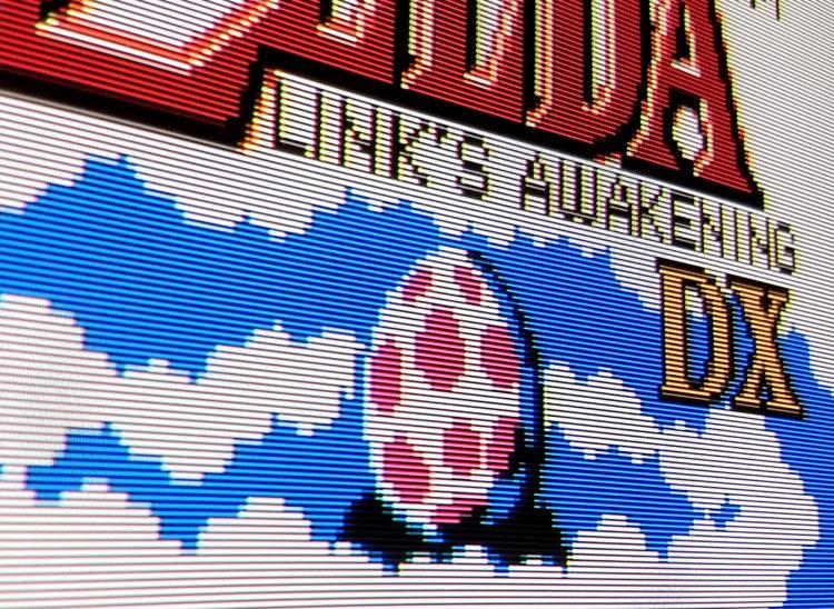 Zelda Links Awakening DX CRT scanlines
