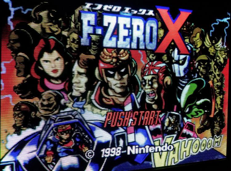 F Zero X N64 RGB 240p